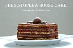 What's Opera Cake? According to Wikipedia , Opera Cake is a type of French cake. It is made with layers of almond sponge cake (known as. Opera Cake, French Cake, House Cake, Great British Bake Off, Oui Oui, Sponge Cake, Vanilla Cake, Opera House, Nom Nom