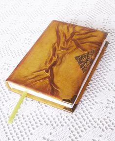 Leather Journal Diary Rustic Notebook Tree of life by AnnaKisArt