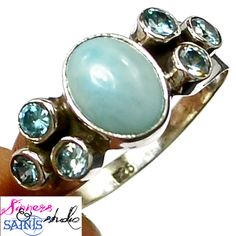 SZ 9 Baby Blues Ring- Please Read Me . Starting at $12 on Tophatter.com!