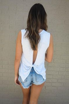 Maybe, Maybe Knot Tank In Blue