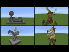 (95) 10+ Minecraft Statue Designs! (And How To Make One) - YouTube