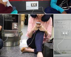 Samsung ironizeaza posesorii de iPhone-uri in marile aeroporturi de pe glob