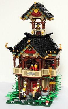 Lego Teahouse by qi_tah, via Flickr