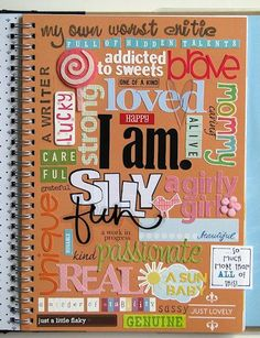 I am Word Collage Notebook