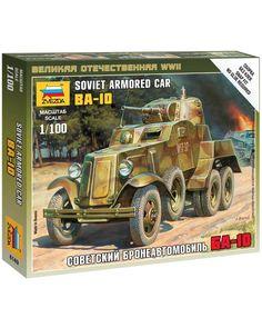Звезда советский бронеавтомобиль БА-10 1:100