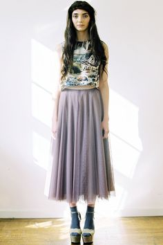 Tulle Circle Skirt midi length by ApartofmeAPOM on Etsy, $341.00