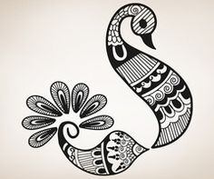 Vinyl Wall Decal Sticker Henna Bird