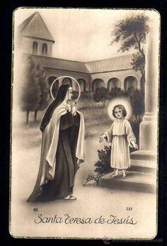 Postal religiosa. Santa Teresa de Jesús. Circulada 1950 (Postales - Religiosas y Recordatorios)