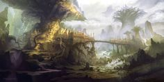 Find the best Fantasy World Wallpaper on GetWallpapers. We have background pictures for you! Fantasy City, World Of Fantasy, Fantasy Kunst, Fantasy Places, Fantasy Forest, Fantasy Art Landscapes, Fantasy Paintings, Fantasy Landscape, Tree Drawing Wallpaper