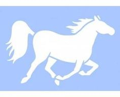 Plastová šablona, kůň