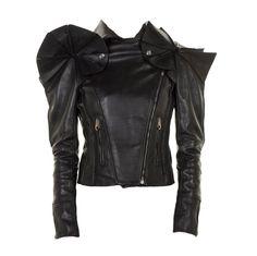 1stdibs - VIKTOR & ROLF BLACK LEATHER SCULPTURAL ARMOR JACKET GAGA LOVES! explore items from 1,700  global dealers at 1stdibs.com