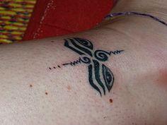 Buddhist eyes. New tattoo. Bamboo tattoo, thai style