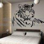 Vinilos decorativos animales tigres para decoracion de habitaciones masculinas