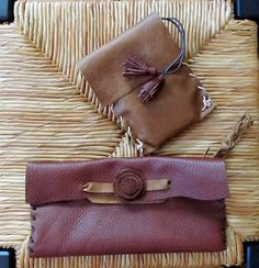 Leather Clutch and i phone case.