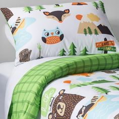 Campfire Critters Comforter Set - Multicolor - Pillowfort™