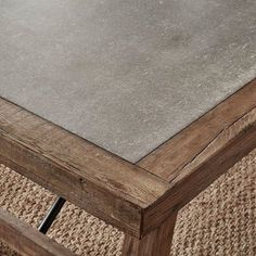 wood color Redesign your dining space with this outstanding oak reinforced concrete dining set. This rectangular table provides a durable and sturdy construction. The reinforced concrete table top and metal turn