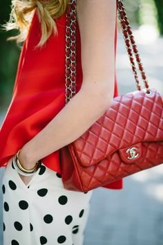 Atlantic-Pacific // Red Chanel classic flap bag