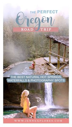 The Perfect Oregon Road Trip: Your itinerary to the best natural hot springs, waterfalls and photography spots!  Here's what you'll find: 🗺 My exact Google map route to each location 🔥 Three stunningly gorgeous natural hot springs 💦 Three unique and beautiful waterfalls you can hike down to 📷 A handful of my other favorite photography viewpoints along the way⛺ Recommendations on where to camp so you can arrive at the busier spots early, to beat the crowds