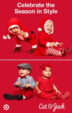 Perfect for Christmas parties and celebrations, these holiday outfits from Cat & Jack will have your kiddos dressed in sweet, festive style. Designed for baby and toddler boys and girls, each piece features bold colors, patterns and adorable touches, like tutus, Santa hats, bow ties and embroidery. Not only do these clothes look super cute, they are super durable, too! They're guaranteed for up to one year with your receipt. Only at Target.