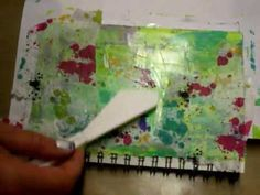 Mixed Media Art Journal Page #3 - YouTube