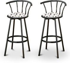 "2 29"" Tall Atlanta Falcons NFL Football Themed Specialty / Custom Black Barstools by The Furniture Cove. $169.87. Set of 2 Bar Stools. Black Metal Finish. Atlanta Falcons Themed!. Swivel Seats. 29"" Tall To Seat. These are new, 29"" Black bar stools with footrests and swivel seats with a backrest! These Feature Atlanta Falcons NFL Football Themed fabric seats that are cool and unique. The pads are 14"" across and the seat is 29"" tall. The entire height is 39"". The sides of the se..."