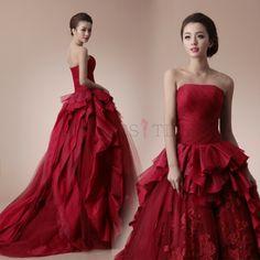 Amazing red lace wedding dress!