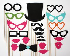 Photo Booth Props   by BeBopProps on Etsy