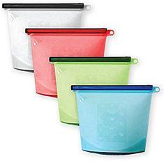 a45b28a64387 Amazon.com - Reusable Silicone Food Storage Bags (4 pcs)