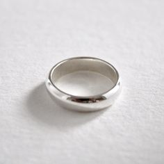 Classic D-Shaped Band Silver Rings, Shapes, Band, Sterling Silver, Classic, Jewelry, Derby, Sash, Jewlery