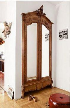 New Hallway Closet Doors Ideas Built Ins Ideas Closet Door Storage, French Closet Doors, Closet Mirror, French Doors Bedroom, Dresser In Closet, Mirror Closet Doors, Hallway Closet, Wardrobe Doors, Mirror Door