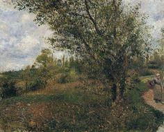 Pontoise Landscape, Through the Fields, 1879. Camille Pissarro