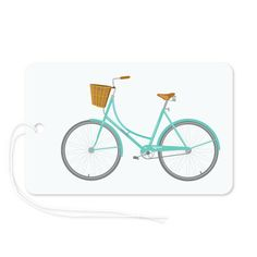 Perfect for riding to (and parking at) the beach. Gift tag to match Vintage Bicycles wrapping paper from The Paper Drawer.