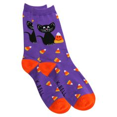 Candy Corn Cat Socks at The Animal Rescue Site