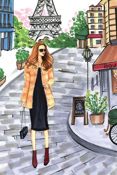 The Perfect Gift for Every Instagram Personality on Your List  - ELLE.com, fashion illustration by Rongrong DeVoe
