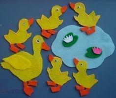 FIVE LITTLE DUCKS Childrens Flannel Board Felt by FunFeltStories, $8.00