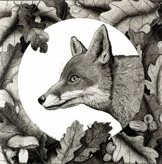 'Red Fox' by Cathy Connolley. Her artwork is available from Caitlihne on Etsy. See http://www.cathyconnolley.com/