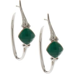 Stephen Webster Crystal Haze Simulated Chrysoprase Small Hoop Earrings ($325) ❤ liked on Polyvore featuring jewelry, earrings, fake hoop earrings, taper earrings, white earrings, white hoop earrings and crystal hoop earrings