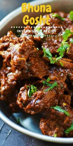 Bhuna Gosht in Instant Pot is the easiest Mutton Bhuna you'll ever prepare. Make this Instant Pot Mutton Bhuna Gosht & slash the c. Lamb Recipes, Veg Recipes, Indian Food Recipes, Asian Recipes, Vegetarian Recipes, Chicken Recipes, Cooking Recipes, Healthy Recipes, Cooking Time