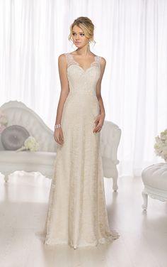 Wedding Dresses - Designer Sheath Dress from Essense of Australia - Style D1673