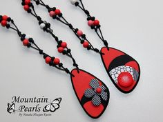 https://flic.kr/p/vGLtfr | Polymer clay necklace, Mountain pearls by Nataša Hozjan Kutin | Mountain Pearls by Nataša Hozjan Kutin