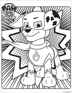 Skye Marshall And Rocky Paw Patrol Coloring Pages Printable Book To Print For Free Find More Online Kids Adults Of