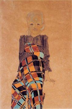 Seated Girl   -  Egon Schiele 1910  Austrian 1890-1918