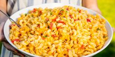 Pimiento Pasta Salad - Mac and cheese, meet summer!