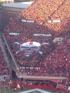 Husker student section - the Boneyard