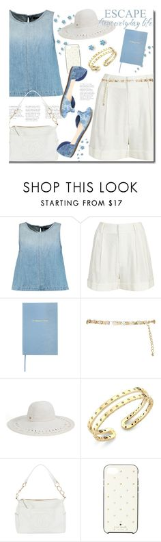 """""""Bye Bye"""" by lavendergal ❤ liked on Polyvore featuring J Brand, Alice + Olivia, Sloane Stationery, River Island, Magid, Roberto Coin, Chanel and Kate Spade"""