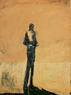 "4. Nathan Oliveira, ""Standing Man with Hands on Belt,"" 1960, oil on canvas, 82 x 62in"