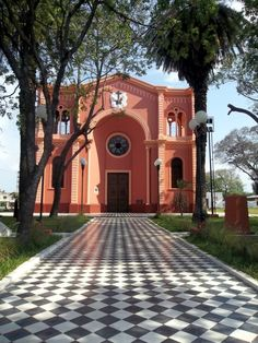 Iglesia La Cruz, Corrientes, Argentina Places Around The World, Around The Worlds, Art Nouveau Arquitectura, Rio, Church Architecture, Place Of Worship, Country, Wonders Of The World, South America