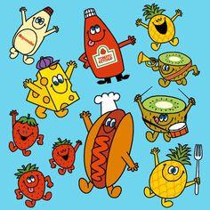 Kawaii Illustration, Graphic Design Illustration, Character Concept, Character Design, Mascot Design, Photo Wall Collage, Food Illustrations, Emoticon, Sticker Design