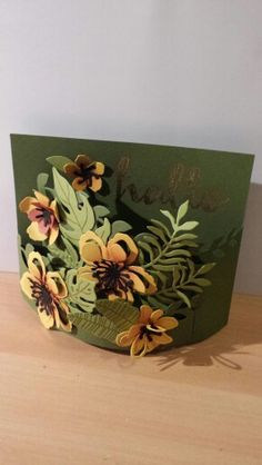 Bendy card with Botanical Garden