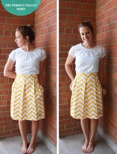 Beautiful and simple sewing directions for wardrobe staples. The best I've come across in a long time. Perfect Pleats Skirt DIY-8